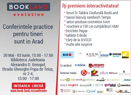 Bookland Evolution – Conferințele practice pentru tineri la Arad