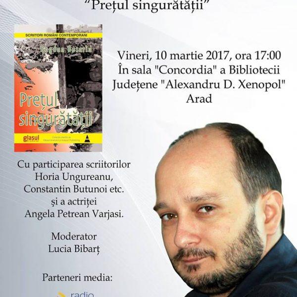 """Lansare de carte: """"Prețul singurătății"""" de Bogdan Butariu"""